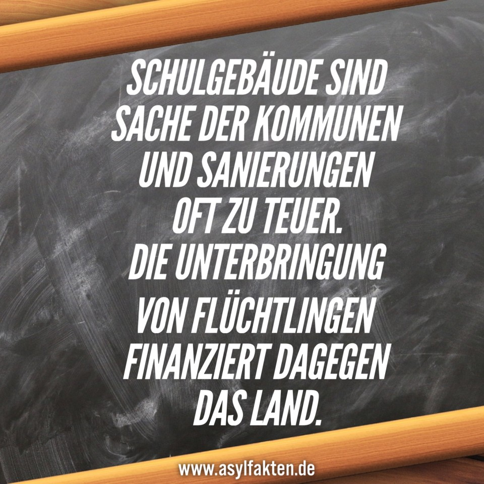 Asyl. Schulen, Flüchtlinge